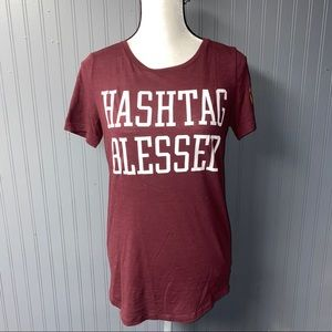 Victoria's Secret pink hashtags blessed tee small